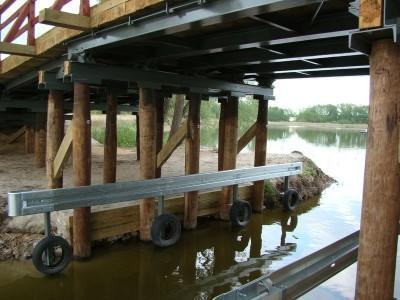 budowa mostu w Przemęcie